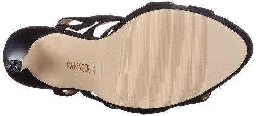 CAFèNOIR Nn006, Women's Sandals Schwarz (010 Nero 010 Nero)