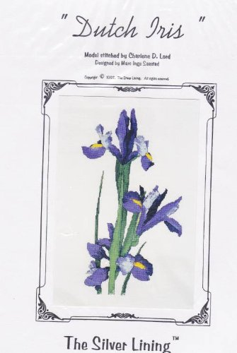 Silver Lining Cross Stitch Patterns - The Silver Lining Dutch Iris Cross Stitich Pattern Chart