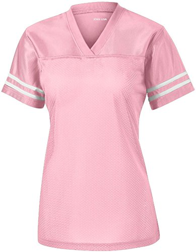 - Joe's USA Ladies Replica Athletic Football Jersey-Pink-M