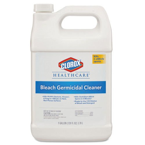 Clorox Healthcare CLO 68978 Hospital Cleaner Disinfectant with Bleach, 128 oz. Capacity Refill (Pack of 5)
