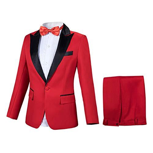 Blazer Et Pcs Suit Pantalon Costume Party Smoking 2 Homme Mariage Veste Rouge 6AxIYq