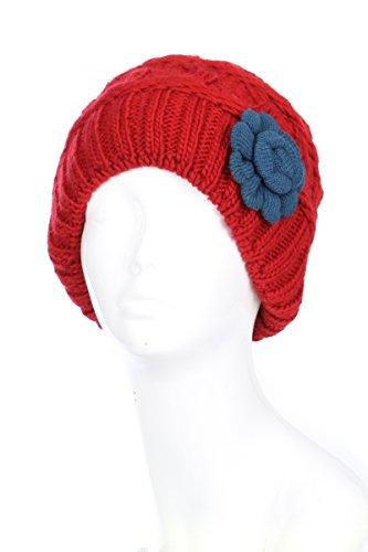 - BSB AN Burgundy Red Beanie Hats For Women Winter Plush Fleece Lined