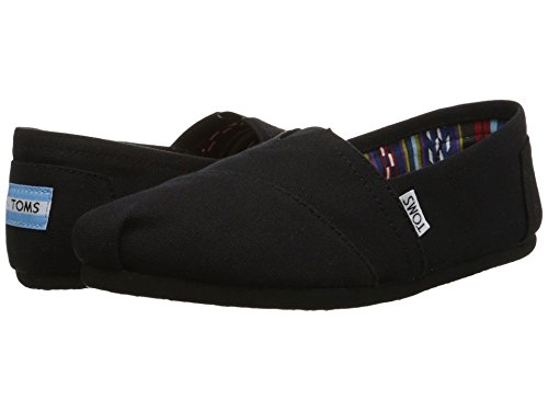 TOMS Women's Canvas Slip-On,Black Black,8 M by TOMS