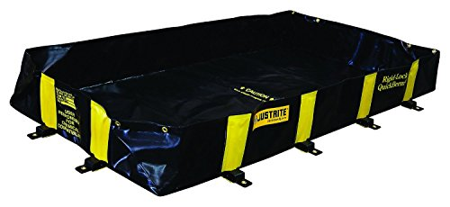 Justrite 28516 Rigid Lock Quick Berm, 6' Width x 8' Length x 12'' Height by Justrite