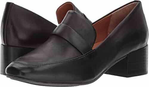 Gentle Souls Women's Eliott Menswear Inspired Dress Block Heel Loafer