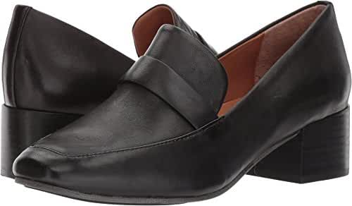 Gentle Souls Women's Eliott Menswear Inspired Dress Block Heel Loafer