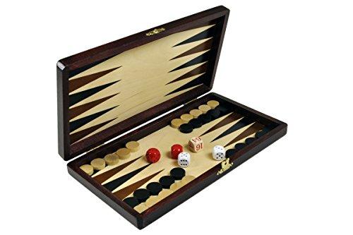 "Backgammon wooden set Game board wood 11"""