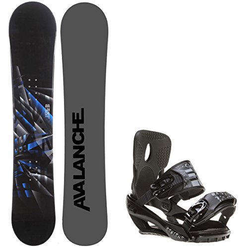 Avalanche Source 158 Mens Snowboard + Sapient Stash Bindings - Fits Boot Sizes: 8,9,10,11