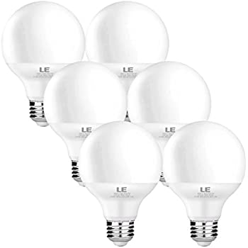 6 pack led g25 vanity globe light bulb dimmable 6w 40 watt le 6 pack 5w g25 e26 led bulbs 40w incandescent bulb equivalent non mozeypictures Images