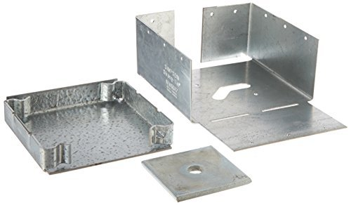 Simpson Strong Tie ABW66RZ ZMAX Galvanized 12-Gauge 6-Inch by 6-Inch Rough Adjustable Post Base by Simpson Strong-Tie