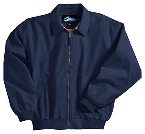 Achiever Microfiber Jacket with Poplin Lining, Color: Navy, Size: - Lightweight Jacket Microfiber
