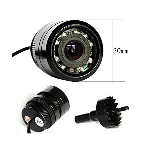 High Def Car Rear Camera With Night Vision Flush Mount Rear View Camera with Waterproof by EinCar