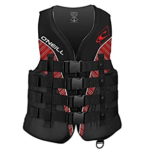 O'Neill Men's Superlite USCG Life Vest, Black/Graphite/Red/White,X-Large