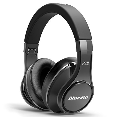 Bluedio U (UFO) Faith series High-End Bluetooth headphones Revolution Patented 8 Tracks /3D Sound Effect /Aluminum alloy build/Hi-Fi Rank wireless&wired Over-Ear headphones/headset with carrying hard case Gift-package (Titanium) (Soul Wireless Over Ear Headphones)