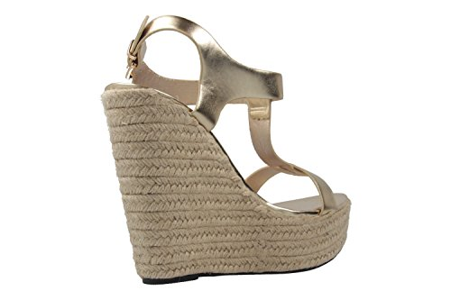 Machado Andres Keil Damen Übergrößen Gold in Sandaletten Schuhe OaaBUx1