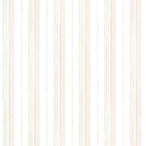Manhattan comfort NWAB27635 Fairfield Series Vinyl Multi Stripe Design Large Wallpaper Roll, 20.5