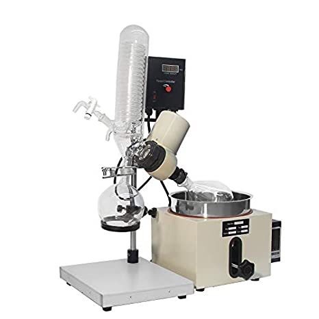 BAOSHISHAN 0.53gal/2L Rotary Evaporator Lab Rotovap with Manual Lift Digital Controller 0-120rpm 0-180℃ 110V (2L)