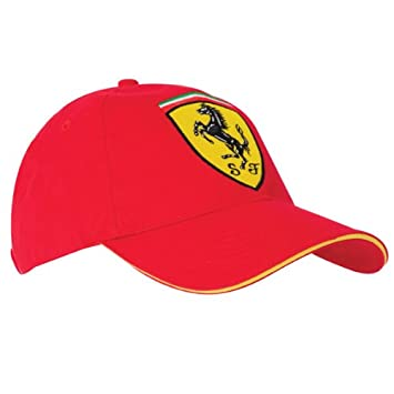 fdfa6b3097585 Scuderia Ferrari Scudetto Classic Cap - Red - One Size Only  Amazon.co.uk   Sports   Outdoors