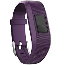 SKYLET Garmin vivofit 3 Silicone Replacement Bands with Secure Watch Clasp (No Tracker) (Plum, Standard (6.0-9.0 in))