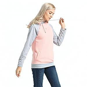 MCEDAR Women's Pullover Hoodie Sweatshirts Casual Cotton Knitted Long Sleeve Lightweight Tunic Tops