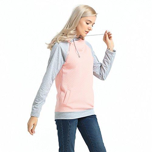 MCEDAR Women's Pullover Hoodie Sweatshirts Casual Cotton Knitted Long Sleeve Lightweight Tunic Tops