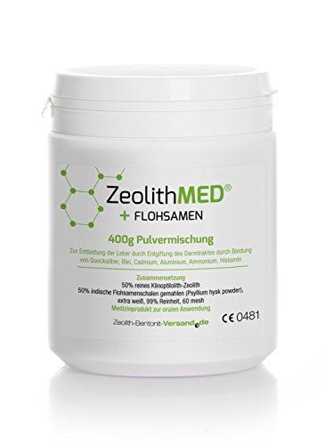 Zeolite MED® + Psyllium seed, 400g powder mixture by Zeolith-Bentonit-Versand.de