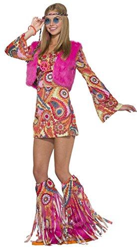 Forum Women's Hippie Girl Fur-Ever Groovy Costume, As Shown, (Groovy Girl Costume)