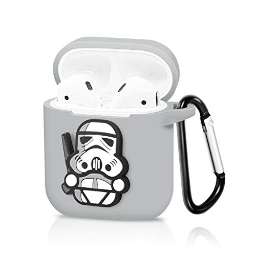 - Pocoolo Airpods Case Airpods Accessories Protective Silicone Cover and Skin with Carabiner for Apple Airpods Charging Case - Star Wars