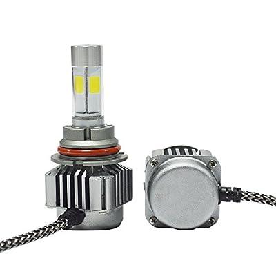 GPPOWER 2PCS H4 H7 9004 9005 9006 90007 H11 H13 COB led Headlights bulbs 80w 9600LM Warranty 1year