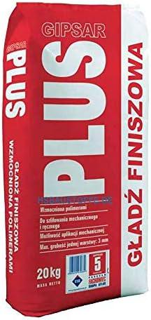 Gipsspachtel Wandspachtel Feinputz Spachtelmasse polymerverst/ärkt Maschinell ATLAS GIPSAR PLUS Wei/ß bis 3mm 20Kg
