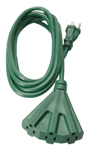 Woods 2466 8-Foot Outdoor Extension Cord with 3-Outlets, Green (Indoor Outdoor Extension Cord)
