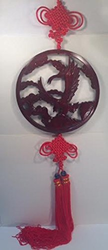 Carved Wood Hanging Eagle Wall Plaque ()