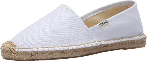 Soludos Women's Original Dali Slipper, White, 7.5 B US (Womens Canvas Espadrilles)