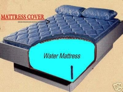 Zipper Mattress Cover Liner fill Kit and Conditioner Queen Waterbed Mattress Kit with Free Flow Water mattress Heater
