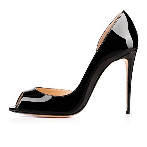 EDEFS - Pantuflas de caña alta Mujer negro