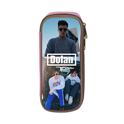 Big Capacity Rock Dolan_Twins Pencil Box Canvas Pen Case Multifunctional Stationery Bag Student Pouch