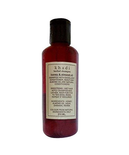 khadi honey almond oil shampoo,mild shampoo, hair care, best shampoo for hair 210 ml