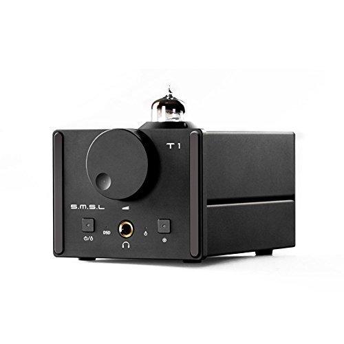 SMSL T1 HiFi Audio DAC USB Optical Coaxial Decoder DSD512 384kHz with Tube Headphone Amplifier