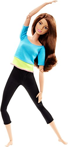 Mattel Barbie DJY08 - Modepuppen, Barbie Made to Move mit blauem Top