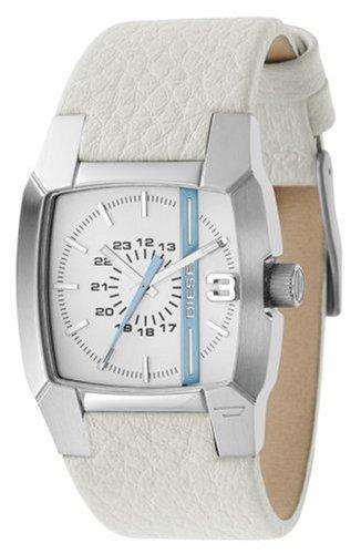 Diesel DZ5101 - Reloj analógico de cuarzo para mujer con correa de piel, color blanco: Amazon.es: Relojes