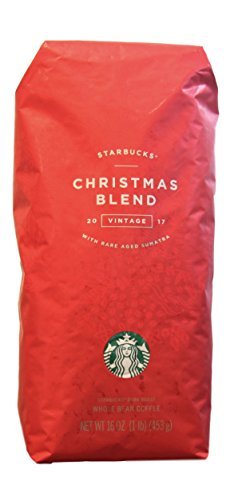 Starbucks - Roasted Mostly Bean Coffee - 16 oz - Pack of 2 (Christmas Blend)