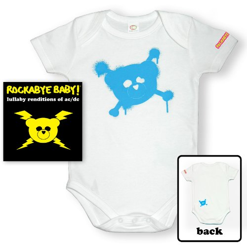 Rockabye Baby! Lullaby Renditions of AC/DC + Organic Baby Bodysuit -