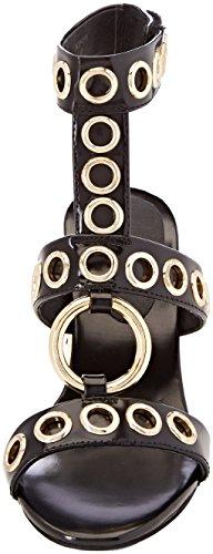 Donna Scarpe Jeffrey Tacco Punta Campbell Black Nero bianka Leather Aperta Box Col S0RSZxfw