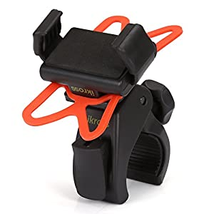 iKross Bicycle Mount Universal Bike Cycling Rack Handlebar Holder Cradle 360 Degrees Rotation, Rubber Strap iPhone 8, X, 7 Plus 7 6S 6 SE 5, Galaxy S8 S7, Note 8, 5 LG G6 G5 More