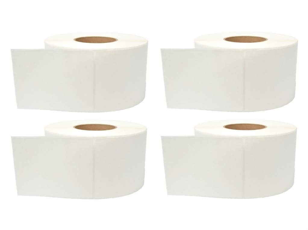 Honeywell Duratherm 4'' x 6'' Direct Thermal Paper Label Roll 4-Pack, 1'' core, 5'' OD, 600 Labels/Roll