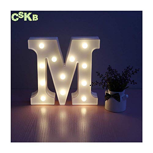 CSKB LED Marquee Letter Lights 26 Alphabet Light Up Marquee Letters Sign For Wedding Birthday Party Battery Powered Christmas Night Light Lamp Home Bar Decoration M