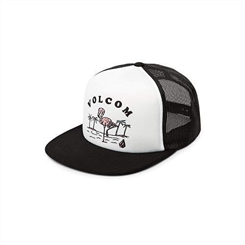 (Volcom Junior's Women's Stoke Made Adjustable Trucker Hat, White, One Size Fits All)