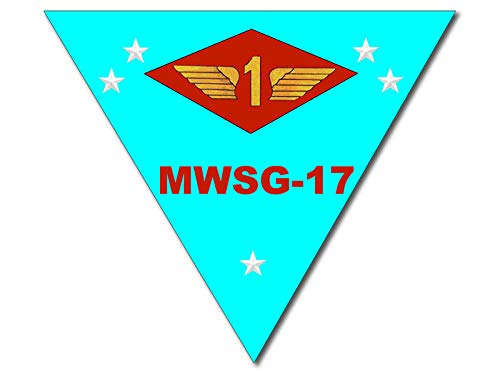 American Vinyl Triangle Shaped MWSG-17 Marine Wing Support Group Sticker (USMC Aircraft Wing)