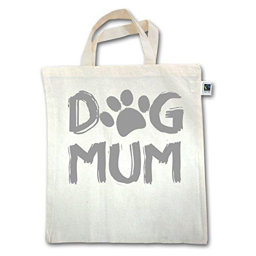 Hunde - Dog Mum - Unisize - Natural - XT500 - Jutebeutel kurzer Henkel