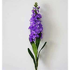 "Skyseen 6PCS Stems 32"" Artificial Antirrhinum Snapdragon Silk Hyacinth Flowers(Purple) 9"